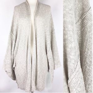 FREE PEOPLE open knit over sized kimono sleeve oat